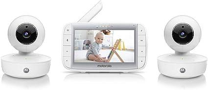 "Motorola MBP48 5/"" inch Colour LCD 2-way Video Baby Monitor Temp Night Vision"
