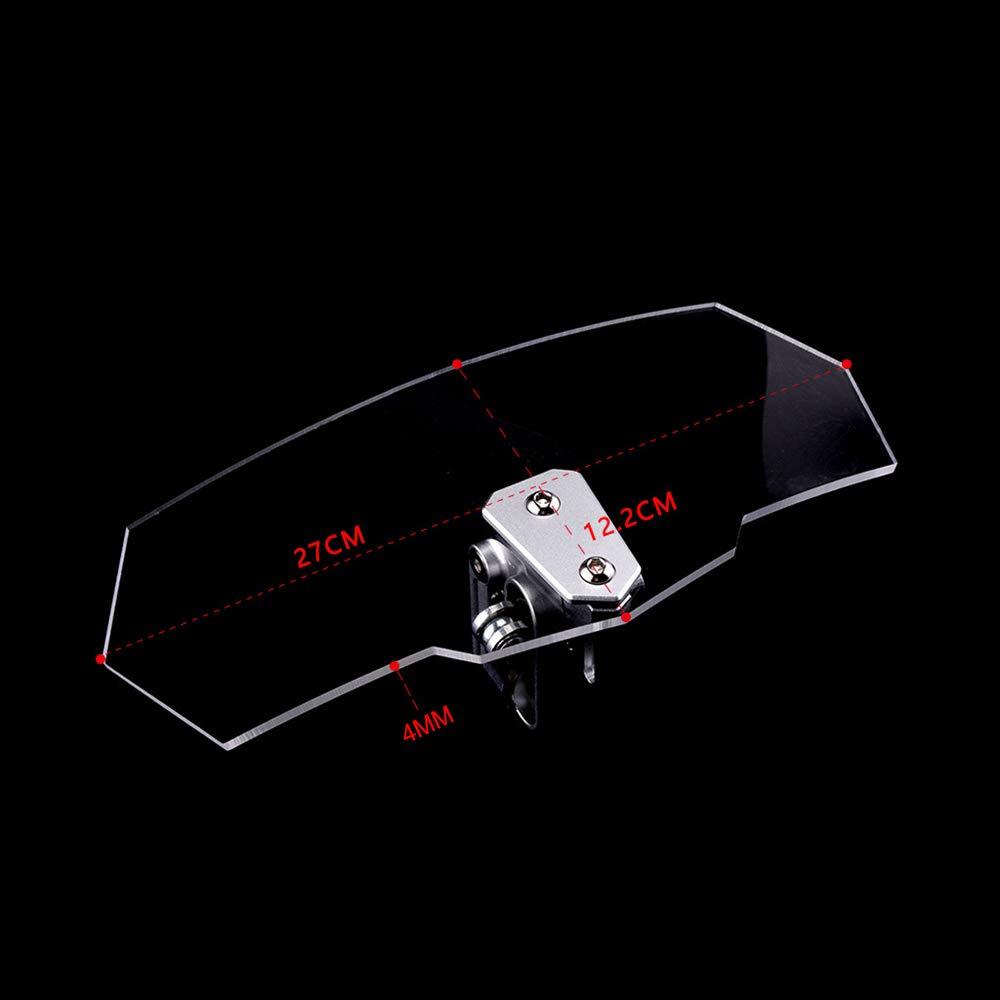 pour Honda Forza 125 300 Yamaha Xmax 125 250 300 400 Tmax 530 Aerox Kymco AK550,Gray QQJK Pare-Brise Pare-Brise Avant Moto Universel