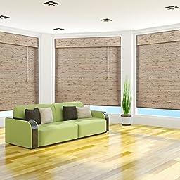 Petite Tropical Rustic Bamboo Roman Shade, 42x74
