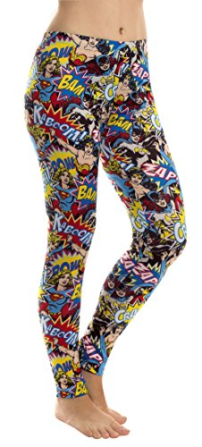 Superhero Dc Comics (Underboss Women's DC Comics Super Heroes Crash Leggings, 2X-Large)