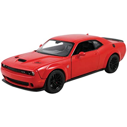many styles the best new style 2018 Dodge Challenger SRT Hellcat Widebody Red 1/24 Diecast Model Car by  Motormax 79350