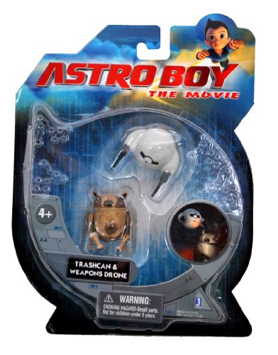 Astro Boy Toy (Astro Boy The Movie Series 2 Pack Mini Action Figure - Trashcan and Weapons Drone)