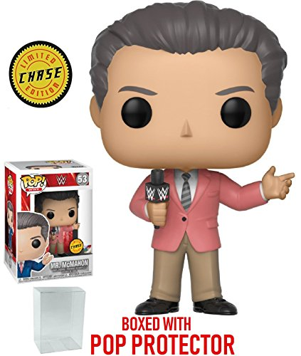 Funko Pop! WWE: Vince McMahon CHASE Variant Limited Edition Vinyl Figure (Bundled with Pop Box Protector Case) by Funko