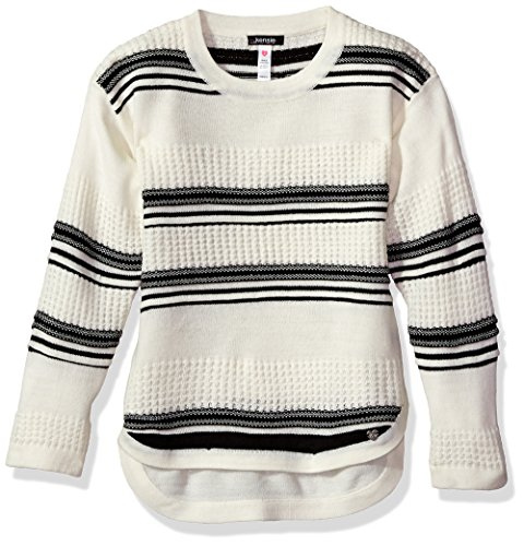 kensie Girls' Little Pullover Sweater (More Styles Available), Vanilla/White 4 from kensie