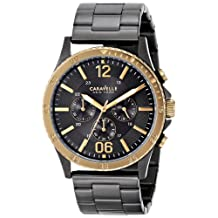 Bulova Caravelle New York  Men's 45A119 Analog Display Japanese Quartz Black Watch