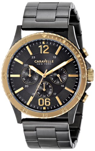 Caravelle New York by Bulova Men's 45A119 Analog Display Japanese Quartz Black Watch