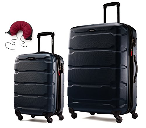 Samsonite Omni PC 2 Piece Set Spinner 20 and 28 With Travel Pillow (One Size, Navy)