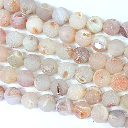 Druzy Beads (Natural Color Druzy Agate Round Findings Jewerlry Making Gemstone Loose Beads 12mm)