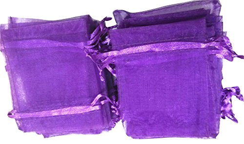 TerGing 3*4 Organza Wedding Party Favor Gift Bags,50 pcs Dar