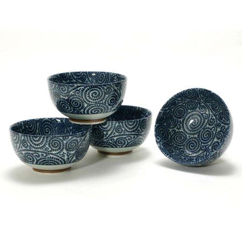 Japanese Takokarakusa Bowl Set includes 4 - Stoneware Japanese