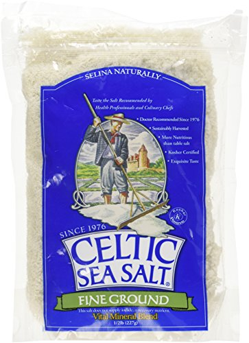 Celtic Sea Salt, Fine Ground, 8 Ounce Pouch (Pack of 2)