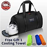 La Gracery Sports Gym Bag Shoes Compartment & Dry Wet Separation Layer Waterproof Travel Duffel Bag Women Men