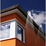 FALOVE Outdoor Solar Gutter LED Lights - White Sun