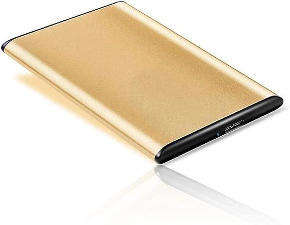 モバイルハードディスク、160ギガバイト/ 320ギガバイト/ 500ギガバイト/ 1TB / 2TB大容量メモリ、モバイル高速伝送USB3.0モバイルハードディスクMEMOR (Color : Gold, Size : 500GB)