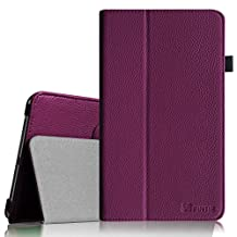 Fintie Samsung Galaxy Tab 4 7.0 Folio Case - Slim Fit Premium Vegan Leather Cover for Samsung Tab 4 7-Inch Tablet, Purple