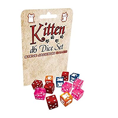 Kitten D6 Dice Set: Toys & Games