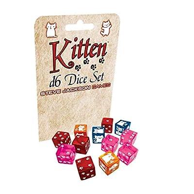 Kitten D6 Dice Set: Toys & Games