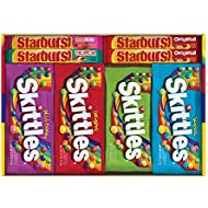 SKITTLES & STARBURST Full Size Candy Variety Mix 30-Count Box