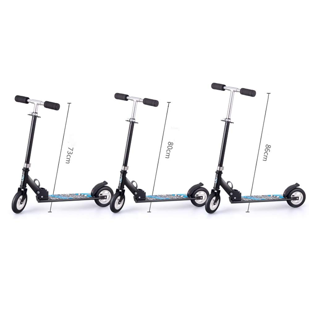 FDSjd Scooter King Scooter Folding Two Wheels Three Wheels Yo-Yo Beginner Big Boy Scooter (Color : White, Edition : Two Rounds) by FDSjd (Image #5)
