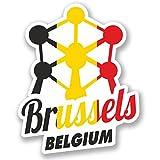 2 x 10cm/100mm Brussels Belgium Vinyl Sticker Decal Laptop Travel Luggage Car iPad Sign Fun #4347