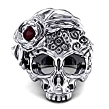 Ladies Skull Ring EVBEA Antique Big Stat