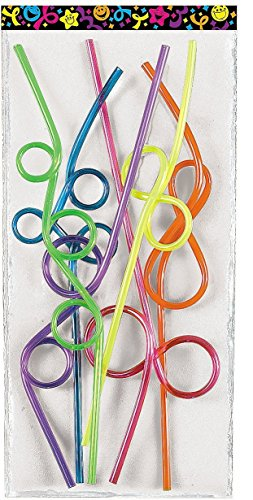 Silly Crazy Straws Assorted Colors