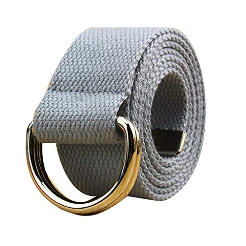TIFENNY Canvas Belt Double Loop Canvas Belt Men and Women Solid Waistband Students Lovers Waistband]()
