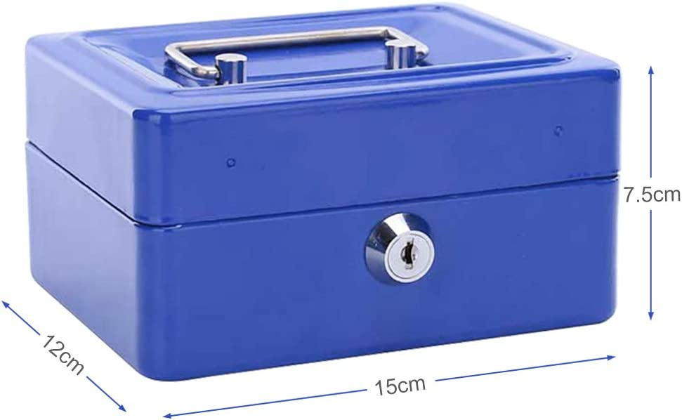 Aihomlk Stainless Steel Small Safe Box Red