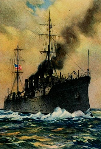 The Army & Navy of the US 1917 Scout cruiser on patrol Poster Print by Unknown (18 x ()