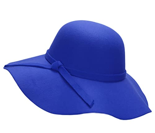 TY fashion - Bombín - para mujer Azul zafiro Talla única