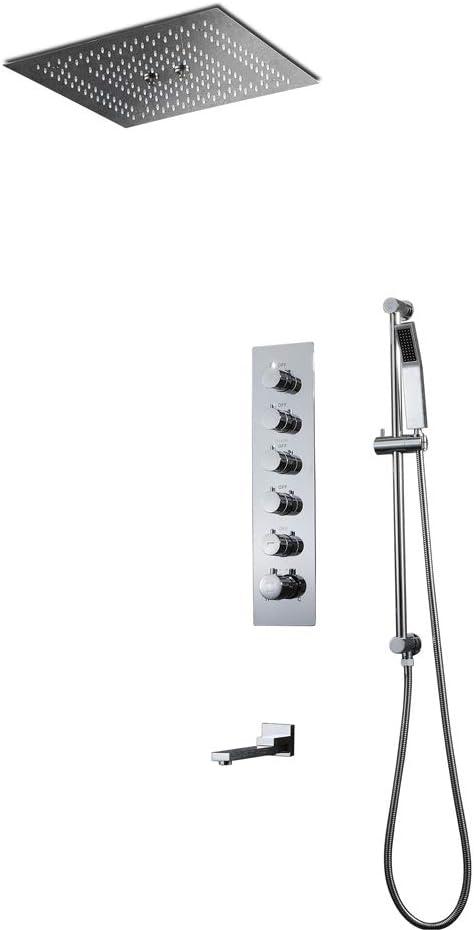 Grifos de ducha termostáticos para baño Lluvia empotrada en el ...