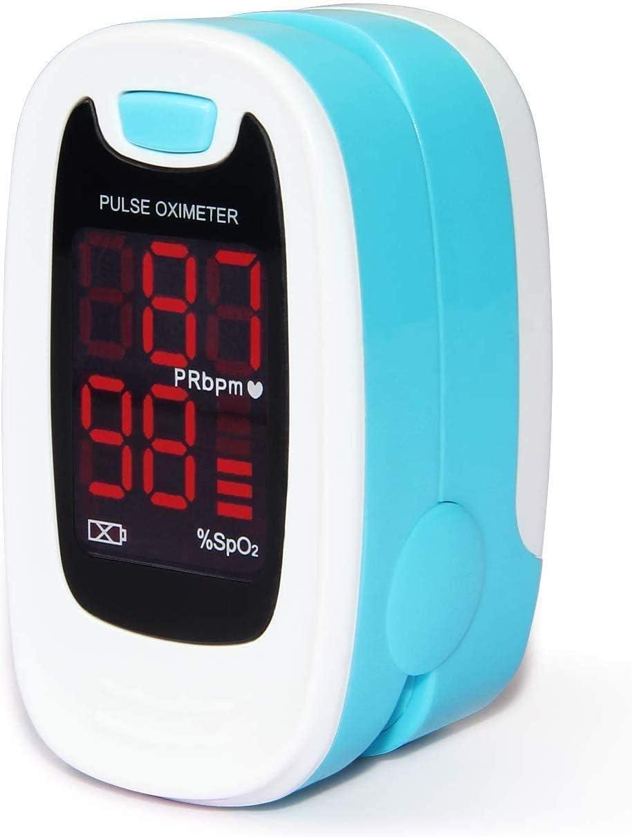 CONTEC LED CMS50M Pulse Oximeter,SpO2 and PR Value Waveform Blood Oxygen, Neck/Wrist Cord