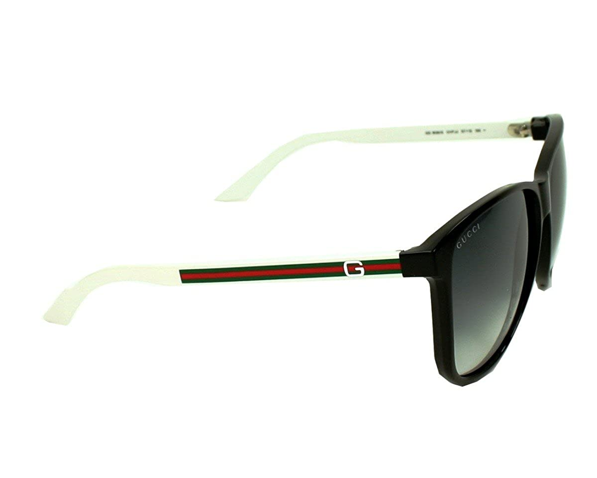 ad898ecb795 Amazon.com  Gucci 1636 S Sunglasses Color 0OVF JJ Black White GrayShaded   Clothing