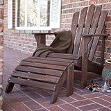 Coral Coast Adirondack Chair & Ottoman - Dark Brown - 2-Piece Set - WIT077