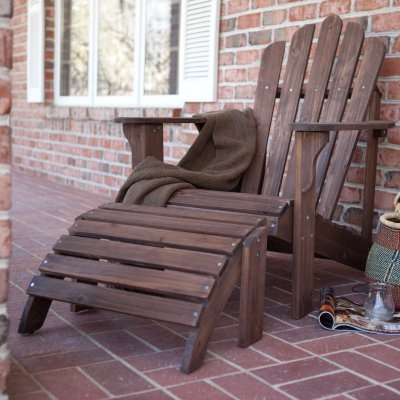 Coral Coast Adirondack Chair & Ottoman - Dark Brown - 2-Piece Set - WIT077 by Coral Coast