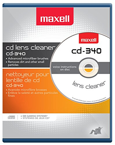 Player Cleaning Cd Disc (Maxell CD-340 190048 CD/CD-ROM Laser Lens Cleaner)