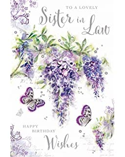 Sister In Law Birthday Card Amazoncouk Office Products