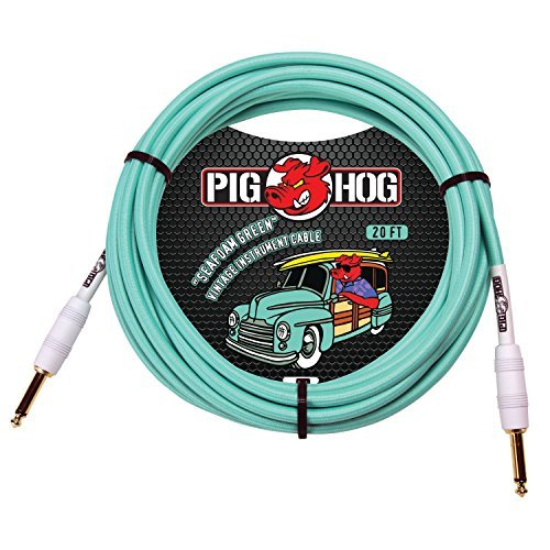 UPC 672485347101, Pig Hog Instrument Cable 20 ft. Seafoam Green