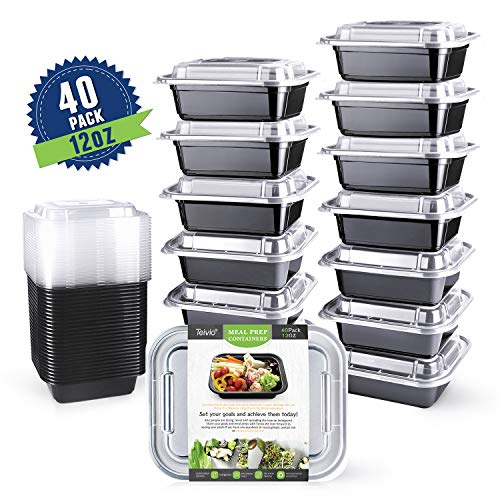 - Teivio 40 Pack of 12OZ SMALL meal prep containers - Mini Food Storage Bento Box - BPA-free - Reusable, Washable, Microwavable Healthy Food Containers with Lids