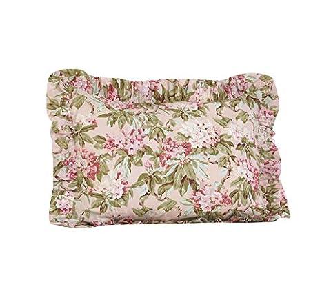 Cotton Tale Designs Ruffled Pillow Sham, Tea Party (Cotton Tale Tea Party Bedding)