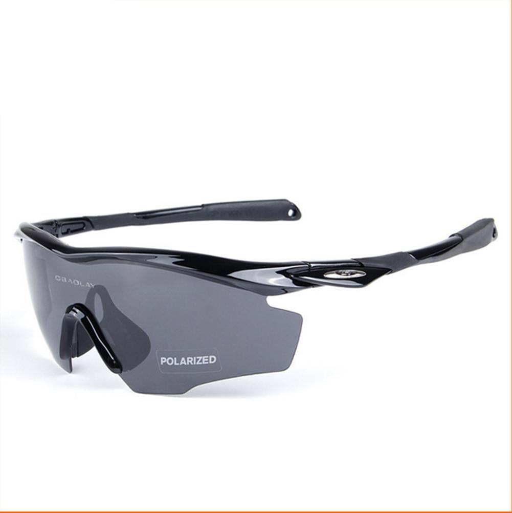 DZW Männer und Frauen Sport Outdoor winddicht Sand polarisiert Flügel Reiten Brille , bright schwarz