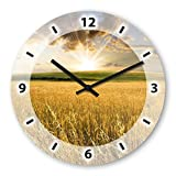 Cereals Wooden Wall Clock Silent Non-ticking Wall Clocks Decorative for Living Room Bedrooms Nursery Clock Children Watch