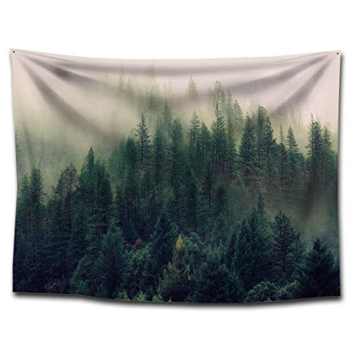Chengsan Sunset Forest Ocean and Mountains Wall Hanging Tapestry/Wall Hanging Decor, Art Nature Square Home Living Room Bedroom Decor Beach Towel/Beach Carpet (59
