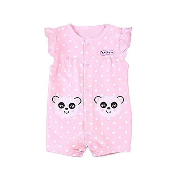 ASHOP Bebé Monos, Manga corta puntos Panda impresión barato Romper recién nacido Mono Manga Corta