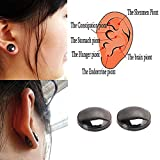 Lottoy 1 Pair Unisex Weight Loss Ear Stud, Healthy Magnetic Therapy Earrings,No Piercing