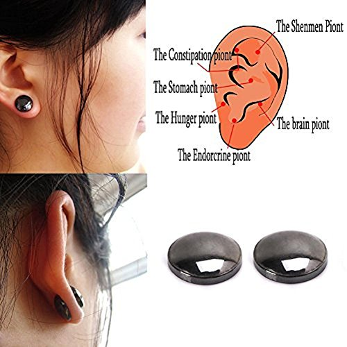 Lottoy 1 Pair Unisex Weight Loss Ear Stud, Healthy Magnetic Therapy Earrings,No Piercing by Lottoy