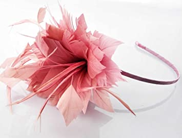 Image Unavailable. Image not available for. Color  Light Pink Fascinator  Ladies Headband ... 3ccf21e614d