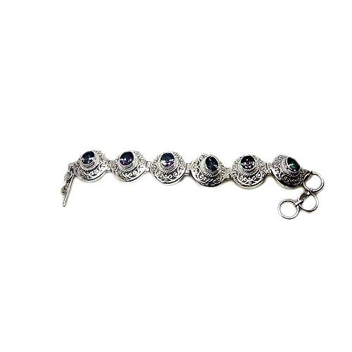 55Carat Genuine Rainbow Moonstone Bracelet Sterling Silver for Women /& Girls June Birthstone Length 6.5-8 Inch