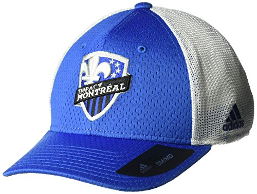 fan products of MLS Montreal Impact Men's Meshback Structured Flex Hat, Small/Medium, Blue