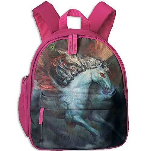 Student Bag Unisex Bookbag Backpack Child Satchel With Fire Wings Pegasus Horse.png - Fire Wings Horse